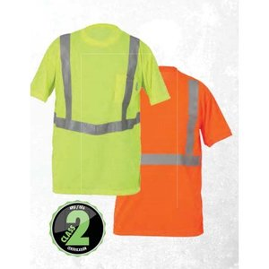 Lift Safety AVE-10E1L Orange Safety Shirt, Extra-Large, Short Sleeve