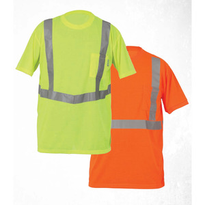 Lift Safety AVE-10EL Vjz Pro Tee Safety Shirt, Large, Orange