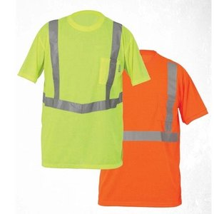 Lift Safety AVE-10L2L Viz Pro Tee Safety Shirt, XX-Large, Yellow