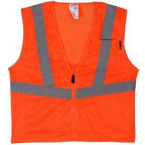 Lift Safety AVV-10E1L Safety Vest, Viz-Pro - Size: X-Large, Orange