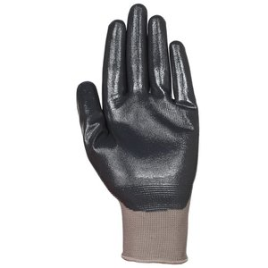 Lift Safety GPR-6KL Nitrile Dip Glove, Large, Black