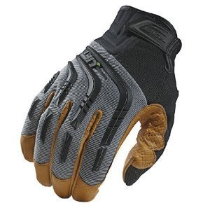 Lift Safety GTA-9YL Tacker Work Gloves - Size: Large, Gray/Tan