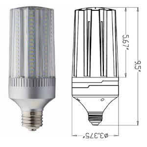 Light Efficient Design LED-8024M57-A LED Lamp, Post Top/Site/Wall Pack, 45W, 120-277V