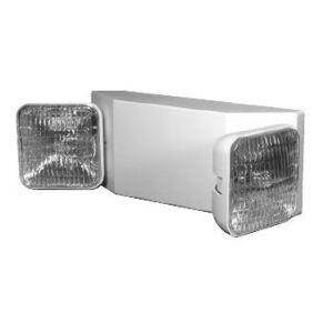 Lightalarms LCA-2SQ Emergency Light, Incandescent, Dual Head, 6V, 5.4W