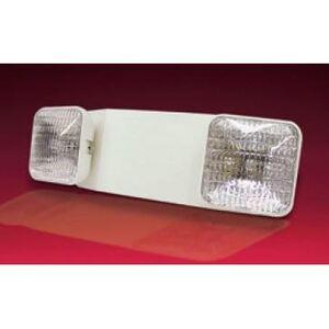 Lightalarms LCA-2SQR Emergency Light, Incandescent, 2-Head, 12W, 6V, White