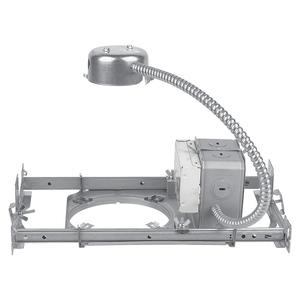 "Lightolier 1001FR26U Non-IC Housing, Frame-In Kit, 5"", Compact Fluorescent, Remodeler, 26W"
