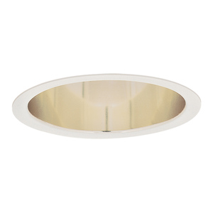"Lightolier 1045 Reflector Trim, 5"", Deep Anodized Specular Gold"
