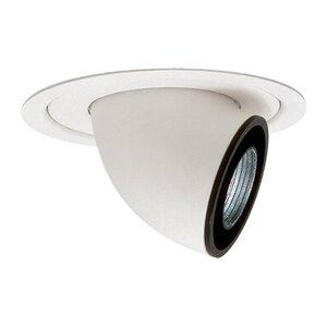 """Lightolier 1062LV Eyeball Trim, Retractable, 5"""", White, MR16"""