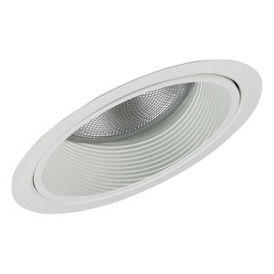 "Lightolier 1131WH Shallow Slope Ceiling Reflector Trim, 6-3/4"", White Baffle/White Trim"