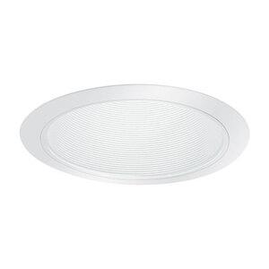 """Lightolier 1176WH Basic Baffle Reflector Trim, 6"""", White Baffle/White Trim"""