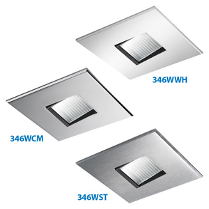 Lightolier 346WWHX SQUARE WALL WASHER MR16