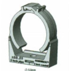 "Litchfield International H88.20-LOK Conduit Hanger, Snap Style, 1/2"", 1/2"" Mounting Hole, Nylon"