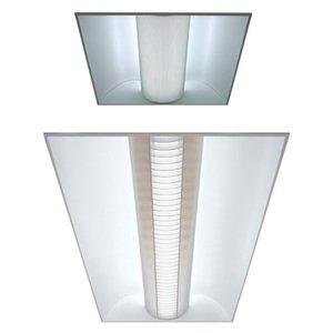 Lithonia Lighting 2AVG217MDRMVOLTGEB10IS Volumetric Recessed Fixture, 2', 2-Lamp, T8, 120/277V, 17W