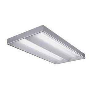 Lithonia Lighting 2RT8S232MVOLTGEB10IS Volumetric Recessed Fixture, 4', 2-Lamp, T8, 120/277V, 32W