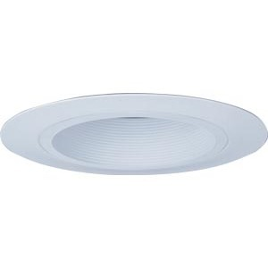 "Lithonia Lighting CB1WU Baffle Trim, Wide Flange, 6"", White Baffle/White Trim"