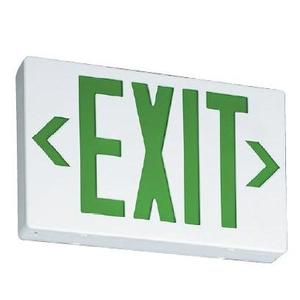Lithonia Lighting EXGLEDELM6 Emergency Exit,Green LED Letters, W/Battery