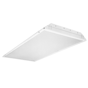 Lithonia Lighting GT2MV Lensed Troffer, 2 x 4', 2-Lamp, T8, 32W, 120-277V