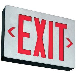 Lithonia Lighting LES1R120/277ELN Exit Sign, LED, Single Face, Red Letters, 120/277V, 1.3/1.4W