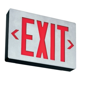 Lithonia Lighting LESW1R120/277 White Die-cast LED Exit, Single Stencil Face, Red Letters