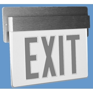 Lithonia Lighting LRP2RMR120/277ELNPNL Exit Sign, LED, Double Face, 120/277V, Aluminum Housing/Red Letters