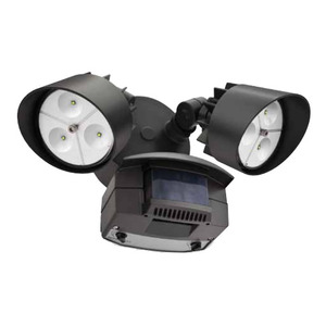 Lithonia Lighting OFLR6LC120MOBZM2 Flood Light, LED, Motion Sensor, 22W, Bronze