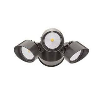 Lithonia Lighting OFLR9LN120MOBZM2 Dusk-To-Dawn Floodlight, 9 LED, 3 Heads,120 Volts, Bronze