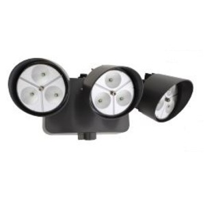 Lithonia Lighting OFLR9LN120PBZM2 Dusk-to-Dawn LED Floodlight With (3) Adjustable Heads