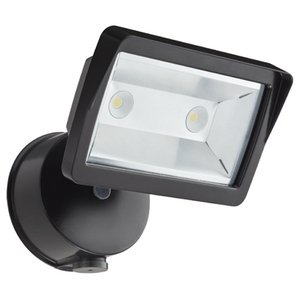 Lithonia Lighting OLFL14PEBZM4 LED Flood Light, 18W, 3978K, 1351 Lumens, 120V, Photocell, Bronze