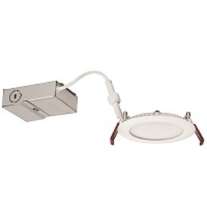 "Lithonia Lighting WF4-LED-30K-MW-M6 LED Downlight, 4"", Thin, 3000K, 9.6W, 675 Lumens, Matte White"