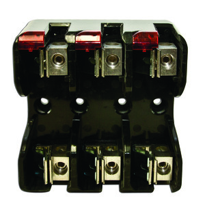Littelfuse LFJ60100-3CID Fuse Block, 100A, 600VAC, Class J, 3P, With Indication, Box Lug