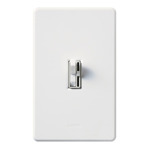 Lutron AY-600PNL-WH Toggle Dimmer, 600W, Single-Pole, Ariadni, White