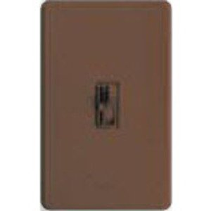 Lutron AYFSQ-F-BR Fan Control, Toggle Switch, 1-Pole/3-Way, 1.5A, 120V, Brown