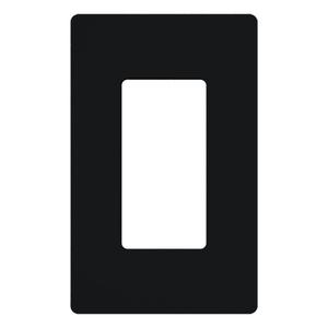 Lutron CW-1-BL Dimmer/Fan Control Wallplate, 1-Gang, Black, Claro Series