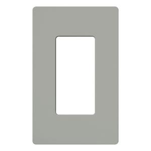Lutron CW-1-GR Dimmer/Fan Control Wallplate, 1-Gang, Gray, Claro Series