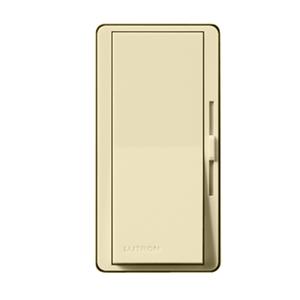 Lutron DV-10P-IV Slide Dimmer, Decora, 1000W, Single-Pole, Diva, Ivory