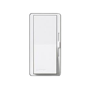 Lutron DV-10P-WH Slide Dimmer, Decora, 1000W, Single-Pole, Diva, White
