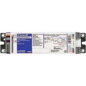 Lutron H3DT540GU110 Dimming Ballast, Compact Fluorescent, 1-Lamp, 40W, 120-277V
