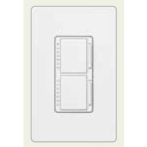 Lutron MA-L3L3-LA Dual Dimmer, Incandescent, Meastro, Light Almond