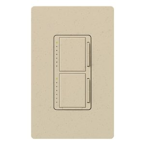 Lutron MA-L3L3-ST Dual Dimmer, Incandescent, Meastro, Stone