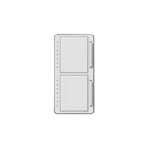 Lutron MA-L3L3HW-WH Dual Dimmer, Incandescent, Meastro, White