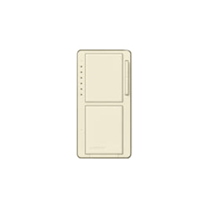 Lutron MA-L3S25-LA Incandescent/Halogen Dual Dimmer and Switch, Light Almond