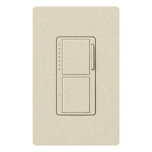 Lutron MA-L3S25-LS Incandescent/Halogen Dual Dimmer and Switch, Limestone
