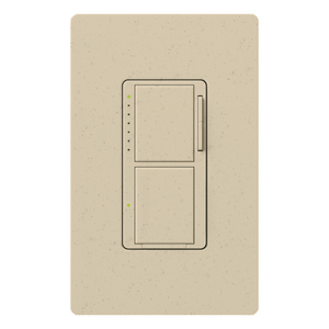 Lutron MA-L3S25-ST Incandescent/Halogen Dual Dimmer and Switch, Stone