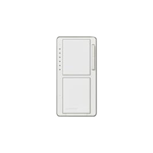 Lutron MA-L3S25-WH Incandescent/Halogen Dual Dimmer and Switch, White