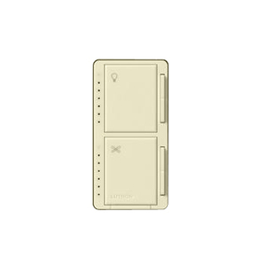 Lutron MA-LFQHW-LA Dimmer/Fan Control, Incandescent, Meastro, Light Almond