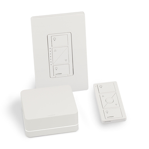 Lutron P-BDGPRO-PKG1W Caseta Wireless Smart Bridge PRO Introductory Kit