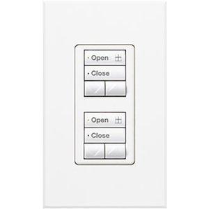 Lutron QSWS2-2RLDI-WH Dual 2-Button Wallstation