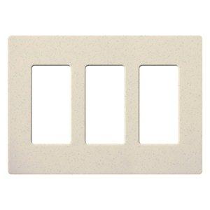 Lutron SC-3-LS Dimmer/Fan Control Wallplate, 3-Gang, Limestone