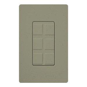 Lutron SC-6PF-GB Wallplate Insert, 6-Port, Multimedia, Greenbriar