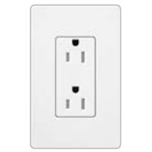 Lutron SCRS-15-TR-ST Tamper Resistant Receptacle, 15A, 125V, Stone